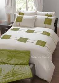 3 pieces 100% egyptian cotton lime green duvet cover set with ... & LIME GREEN CREAM FLORAL DUVET QUILT COVER EMBROIDERED Adamdwight.com