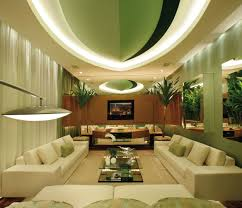 Beautiful Green Wall Decors With White Trees Decals And Green Sofas Ideas  In ...