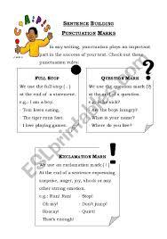 Punctuation Marks Esl Worksheet By Nordynour