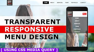 How To Design A Menu Bar In Html Responsive Menu Bar Design With Html And Css Transparent Menu With Css Media Query Tutorial