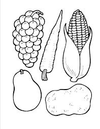 Printable Vegetables Vegetable Coloring Pages Kids Under 7
