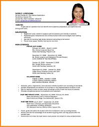 Marvelous Job Resume Sample Format Pdf About Classy Nice In For