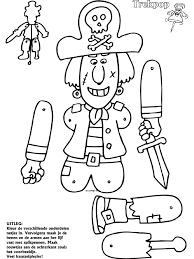 Piraat Trekpoppen Knutselpaginanl Knutselen Knutselen En Nog