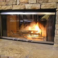 modern fireplace screens glass custom glass fireplace doors delightful designs