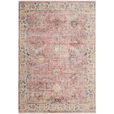 illusion rose cream 6 ft x 9 ft area rug