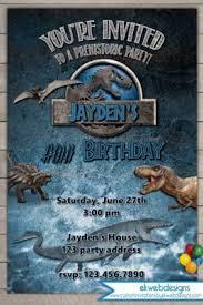 Jurassic Park Invitations Jurassic World Birthday Invitation Jurassic Park