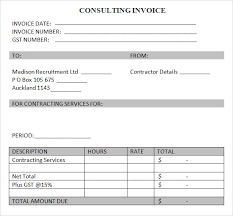 Sample Consulting Invoice 7 Documents In Word Pdf