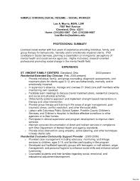 Sample Resume For Social Worker Free Sample Social Work Resume