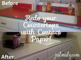 Redo your ugly, laminate countertops for under $10 with Contact Paper!