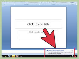 how to save a powerpoint presentation on a thumbdrive steps