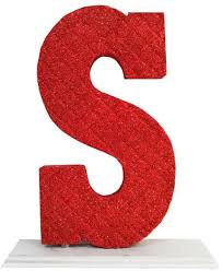 S P 500 Eps Chart Decoration Letter S Red