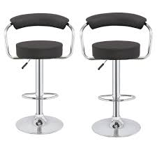 faux leather bar stools. Faux Leather Bar Stools / Chairs Product Image E