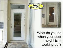 replacing sliding glass door with french doors how to accommodate a non standard height exterior door