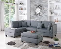 Amazon Modern Contemporary Polyfiber Fabric Sectional Sofa