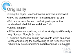 Citation Searching With Web Of Knowledge Ppt Download