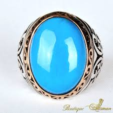 Oval Color Stone Size Chart Oval Feroza Stone Silver Ring Boutique Ottoman Exclusive