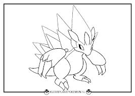 Kleurplaat Van Sandshrew Sandslash Kleurplaat Pokémon
