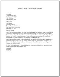 Sample Cover Letter For Resume Police Officer Cover Letter For