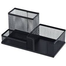 metal desk organizer com decobros supplies caddy black