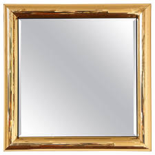 mirror frame. Disco Ball Gold Square Mirror Frame For Sale