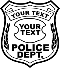 Small Picture Police Badges Coloring Page Coloring Home