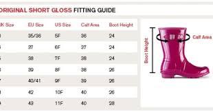 Wellington Hunter Size Chart Guide For Hunter Original Short