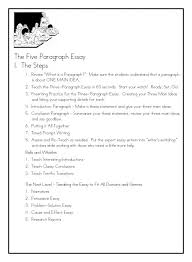 five paragraph essay the steps click to view