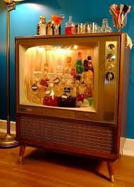 Diy Minibar Ikea Bob Vila Old Tvs May No Longer Work But They Can Still Be Creatively Functional Bring Some Mad Meninspired Style Into Your Home By Turning Vintage Set Diy Home Bar 17 Designs You Can Make Easily