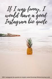 Best Instagram Bio Quotes Gorgeous 48 Instagram Bio Quotes To Inspire Once In A Lifetime Journey