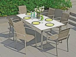 aluminum tables and chairs madison sling 7 pc aluminum dining set with 79 x 40 duranite