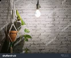 How To Hang Rope Lights On Brick White Gray Square Brick Box Organize Stock Photo Edit Now