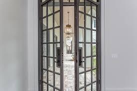 steel glass doors. Gray Steel Double Patio Doors With Glass Panels