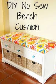 diy no sew bench cushion banquette seat cushions