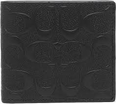 Coach F75363 Signature Logo Crossgrain Leather Coin Wallet For Men - BLACK  price in Dubai, UAE   Compare Prices