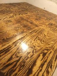 how to burn plywood floor finish google search