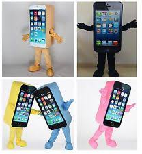 iphone costume. iphone cell mobile phone apple many colors mascot costume cosplay fancy dress
