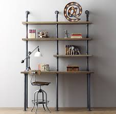 steel pipe furniture. Industrial Pipe Desk And Shelving: Stylishly Industrious Steel Furniture U