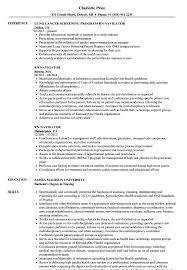 Rn Navigator Resume Samples Velvet Jobs