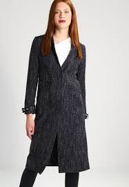 guess lizzie classic coat dark grey heather women clothing coats mottled