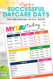 Free Day Care 5 Tips For Successful Daycare Days Free Printable Daycare