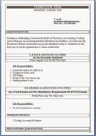 Sample Accountant Resume Beauteous Resume Format In Word File For Accountant