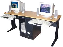 furniture desk home office cozy luxor black two person tower computer workstation comes with keyboard alluring person home office