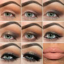 holiday gold glitter makeup tutorial