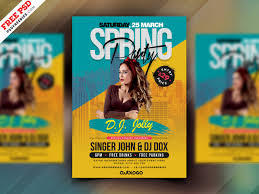 009 Free Party Flyer Psd Templates Download Spring Design