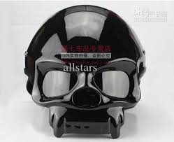 cool skull skull motorcycle helmet half helmet outdoor sports