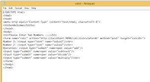 html calculator form enggsavy learners point calculator servlet