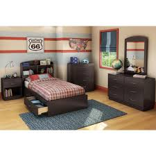 South Shore Logik 6 Drawer Chocolate Dresser The Home Depot