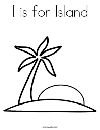 Small Picture I is for Island Coloring Page Twisty Noodle