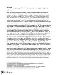 essay modern history year hsc modern history meiji restoration essay