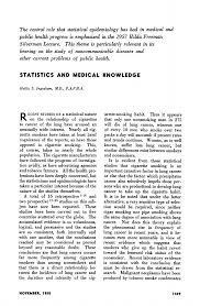 Statistics and Medical Knowledge